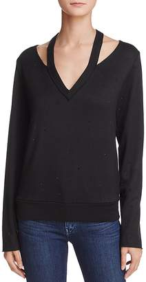 Bailey 44 Spin Off Embellished Cutout Sweatshirt