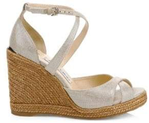 Jimmy Choo Women's Alanah Espadrille Wedges - Natural - Size 35 (5)