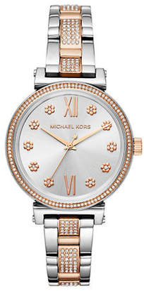 Michael Kors Mini Sofie Two-Tone Stainless Steel Bracelet Watch