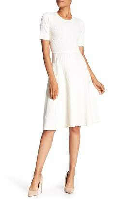 A.L.C. Grayson Textured Fit & Flare Knit Dress