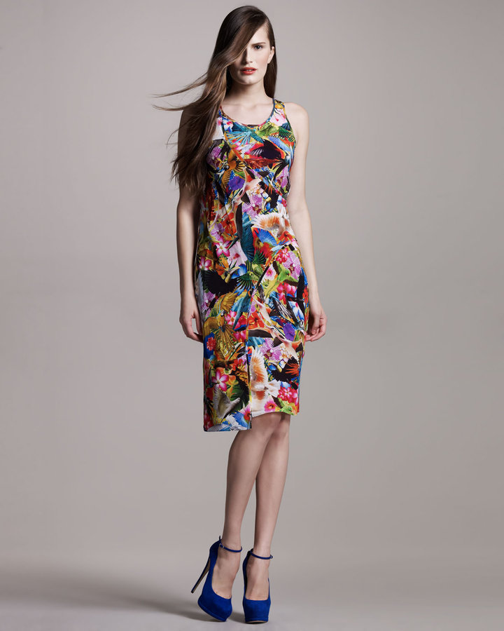 Altuzarra Floral-Print Bias-Seam Dress