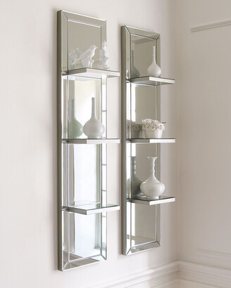 Horchow Mirrored Shelf Wall Panel