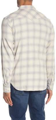 Lucky Brand Plaid Print Snap Button Western Shirt