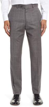 Nordstrom Trim Fit Flat Front Wool Trousers