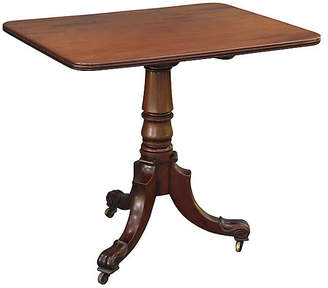 One Kings Lane Vintage Georgian-Style Tilt-Top Mahogany Table - Faded Rose Antiques LLC