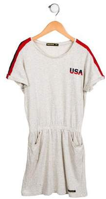 Finger In The Nose Girls' Stripe Casual Dress