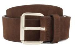 BOSS Roller-buckle belt in Italian nubuck leather