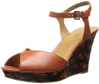Nine West Women's Bigeasy Leather Wedge Sandal