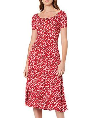 Dorothy Perkins Women's Ditsy Scoop Neck Party A-Line Dress, Red (Red 10), (Manufacturer Size:)