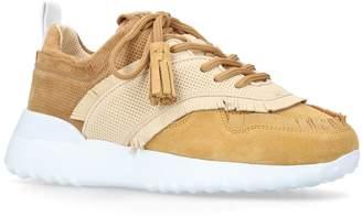 Tod's Leather Fringe Tassel Sneakers