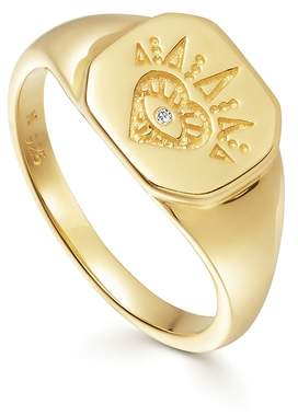 Missoma Mantra Open Heart Signet Ring