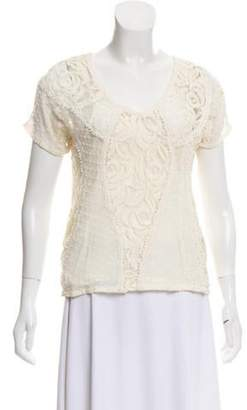 Beyond Vintage for Scoop Silk Lace Top Cream Beyond Vintage for Scoop Silk Lace Top