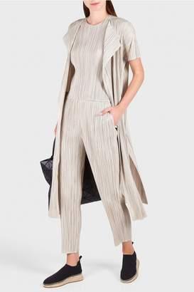 Pleats Please Issey Miyake Playing Stripe Crop Pants