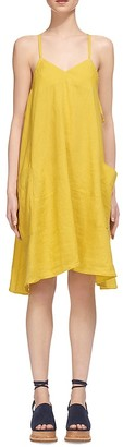 Whistles Marina Linen Swing Dress $180 thestylecure.com