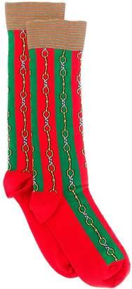 Gucci Horsebit Web stripe socks