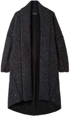 Akris Asymmetric Cashmere And Wool-blend Cardigan