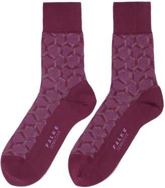 Falke 'Sensitive Feng Shui' geometric intarsia socks