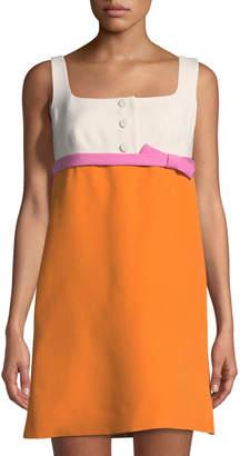 Valentino Bow-Waist Colorblock Mini Dress