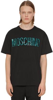 Moschino Oversize Button Logo Cotton T-shirt