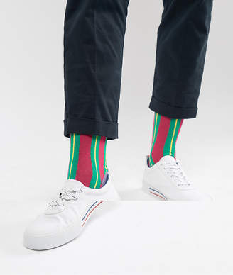 Rob-ert ASOS DESIGN The Jamie Robert Collection ankle socks in super bright stripes