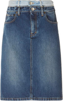 187749f91c Maison Margiela Two Tone Knee Length Denim Skirt