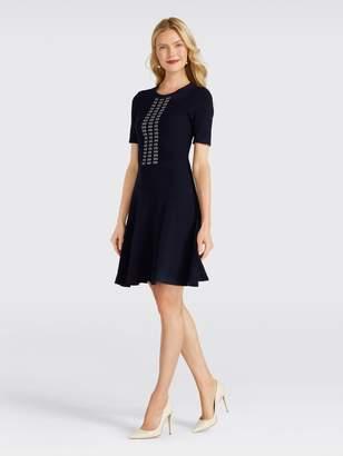 Draper James Arrow Rib Knit Dress
