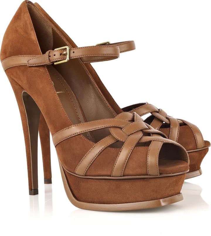 Yves Saint Laurent Tribute suede sandals