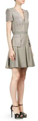 Alexander McQueen Plaid Patchwork A-Line Dress