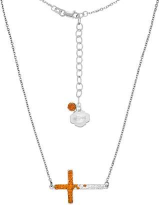 Kohl's Florida Gators Sterling Silver Crystal Sideways Cross Necklace