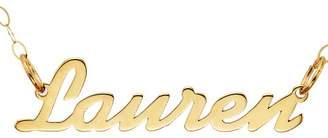 Ralph Lauren Ornami Glamour 9ct Yellow Gold Lightweight Name Necklet 43cm Chain