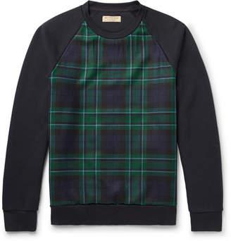 Burberry Black Watch Checked Fleece-Back Cotton-Blend Jersey Sweatshirt