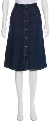 MiH Jeans Knee Length Denim Skirt