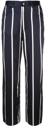 Fleur Du Mal cropped striped trousers
