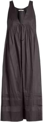 THREE GRACES LONDON Lindera V-neck pleated cotton nightdress