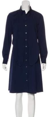 Michael Kors Knee-Length Button-Up Dress