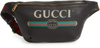 Gucci Logo Leather Waist Pack