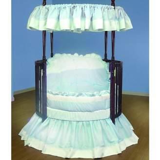 Baby Doll Bedding Regal Pique Round Crib Bedding Set, Blue by BabyDoll Bedding