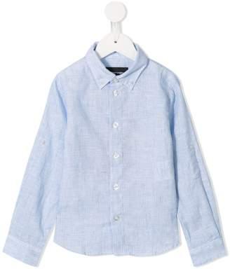 Emporio Armani Kids button down striped shirt