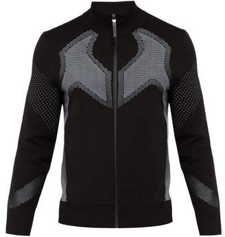 BLACKBARRETT by NEIL BARRETT Mesh Zip Up Track Top - Mens - Black