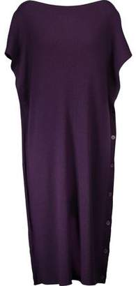 MM6 MAISON MARGIELA Ribbed Wool Midi Dress