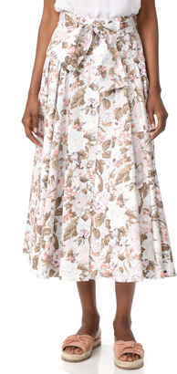Rebecca Taylor Penelope Midi Skirt $395 thestylecure.com