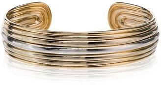Fernando Jorge grooved cuff bracelet