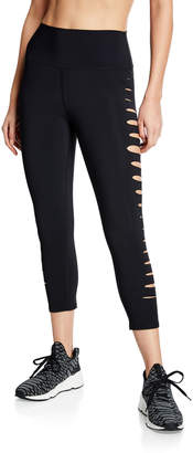 Alo Yoga High-Waist Side Sliced Capri Leggings