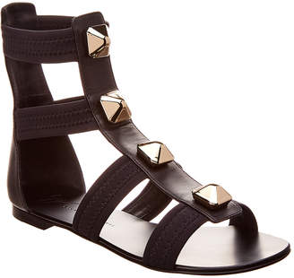 Giuseppe Zanotti Neoprene And Leather Flat Sandal