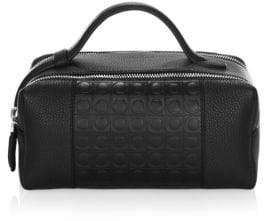 Salvatore Ferragamo Gancio Textured Leather Dopp Kit