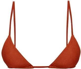 JADE SWIM Via Triangle Bikini Top - Womens - Dark Red