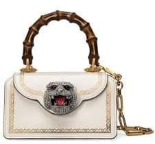 Gucci Frame Print Leather Mini Top Handle Bag