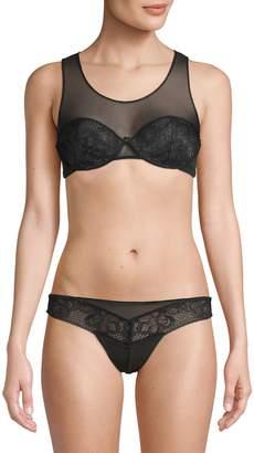 Calvin Klein Underwear Lace Cups Mesh Bralette