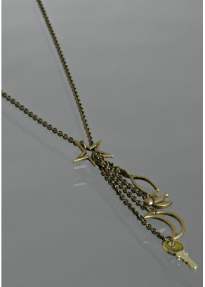 Marc by Marc Jacobs antique brass star lariat necklace