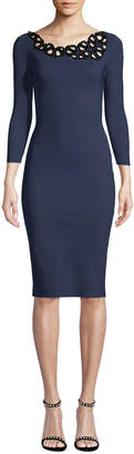 Chiara Boni Rasvita Geometric Body-Con Dress